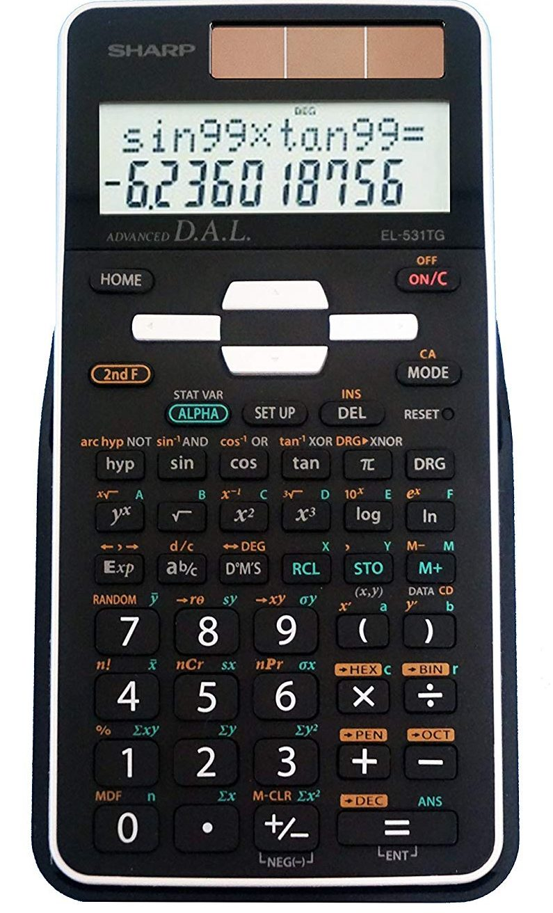 Sharp EL-531G BBW Scientific Calculator