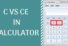 C vs CE in calculator