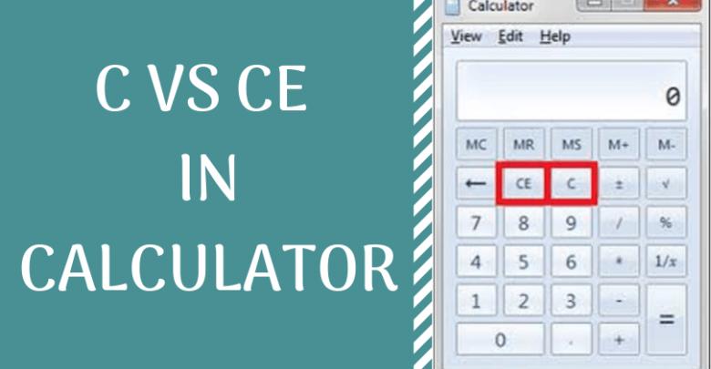 C vs CE in calculator
