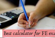 Calculator for FE exam