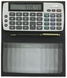 Datexx Battery Powered Checkbook Calculator