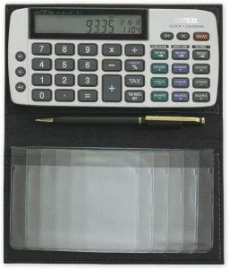 Datexx Battery Powered Checkbook Calculator