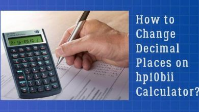 How to Change Decimal Places on hp10bii Calculator