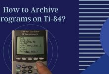 How to Archive Programs on Ti-84_