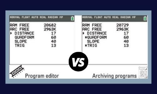 Ti-84 Archive vs RAM