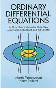 Ordinary Differential Equations By Morris Tenenbaum