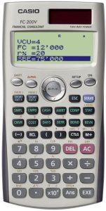 Casio FC-200V Calculator with 4-Line Display