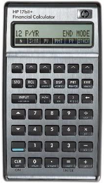 HP 17BII+ Calculator, Silver