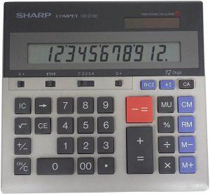 Sharp QS-2130 12-Digit Desktop Calculator